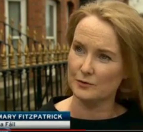 Mary speaking to RTE about concerns over privatization of domestic bin collections.