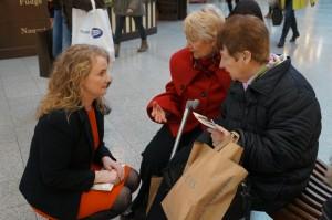 Mary Fitzpatrick talks to Olive and Carmel Lyons